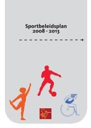Sportbeleidsplan 2008 - 2013