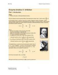 Enzyme kinetics II