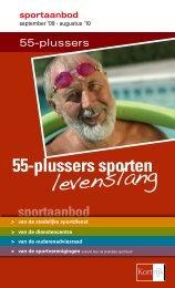 sportaanbod 55-plussers sporten