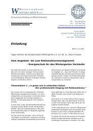 Einladung - Bundesverband Wintergarten eV