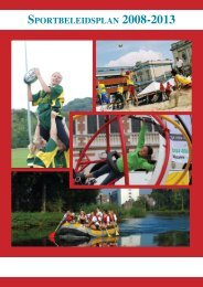 SportbeleidSplan 2008-2013 - Ba
