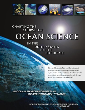 Charting the Course for Ocean Science