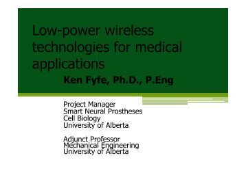 Low-power wireless technologies for medical applications - Acamp