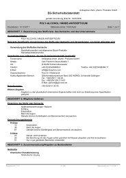 Sicherheitsdatenblatt Poly-Alcohol Hände-Antisepticum - Antiseptica