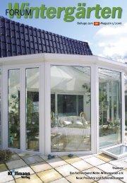 Themen: Der Fachverband Wohn-Wintergarten e.V. Neue Produkte und ...