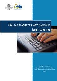 Ga naar de praktische handleiding over online enquêtes met ...
