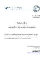 Wintergarten E.V. Mustervertrag - Bundesverband Wintergarten eV