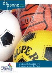 Sportbeleidsplan 2008-2013 Gemeentebestuur De Panne