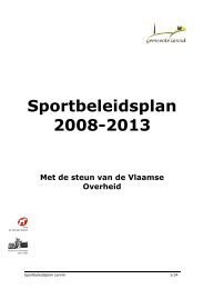 Sportbeleidsplan 2008-2013