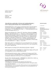 Aarhus Universitet Marianne Kjær Sendt pr. e-mail: au@au.dk mj ...