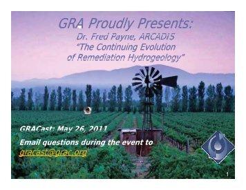 Dispersivity - Groundwater Resources Association of California