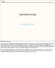 Nye læseteknologier - Kulturstyrelsen