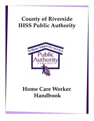 Envisioning Enhanced Roles for In-Home Supportive Services