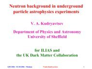 Neutron backgrounds - Universidad de Zaragoza