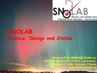 SNOLAB-Design and Status of a New Underground ... - LRT2006