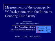 Measurement of the cosmogenic 11C background with ... - LRT2006