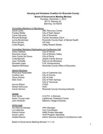 November 1, 2012 - Riverside County Department of Public Social ...