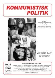 Kommunistisk Politik 5, 2005