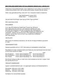 Bestyrelsens beretning 2012 - Velkommen til Kalundborg Seniorgolf