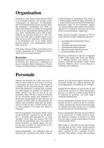 Organisation Personale