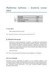 Platforma Cyfrowa – kryteria oceny ofert