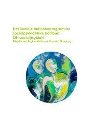 Målgrupperapport for SIP-socialpsykiatri. Tilbuddene i Region Midt ...