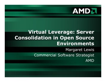 Server Consolidation in Open Source Environments - Videos about ...