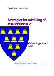 Strategier for udvikling af et landdistrikt 2: - Folkeligt Institut for ...