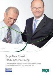 Sage New Classic Modulbeschreibung