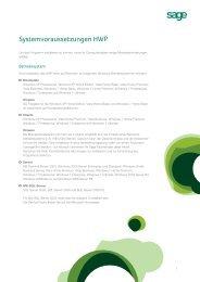 Systemvoraussetzungen HWP 2012