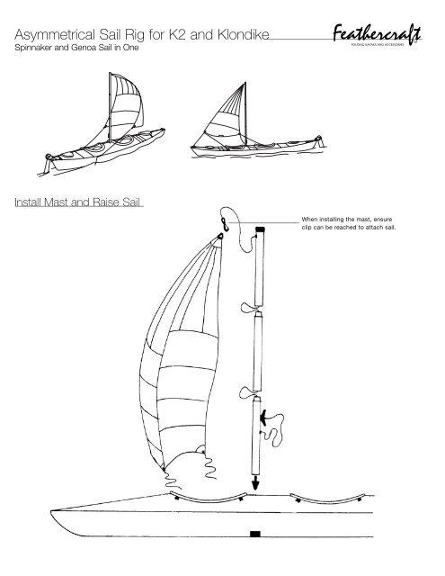 Asymmetrical Sail Rig for K2 and Klondike - Feathercraft