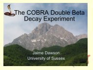 The COBRA Double Beta Decay Experiment - LRT2006