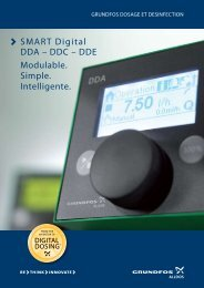 SMART Digital DDA – DDC – DDE Modulable. Simple ... - Grundfos