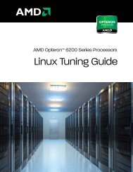 Linux Tuning Guide - AMD Developer Central