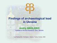 Findings of archaeological lead in Ukraine - LRT2006