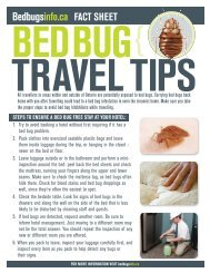 traveL TiPs - Bed bugs