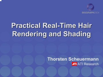 Hair Rendering and Shading - AMD Developer Central
