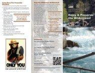 Enjoy & Preserve the Wilderness! - USDA Forest Service