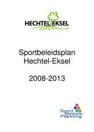Sportbeleidsplan Hechtel-Eksel 2008-2013
