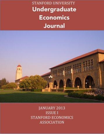 Stanford Undergraduate Economics Journal