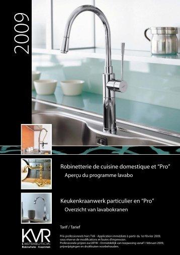"""Robinetterie de cuisine domestique et """"Pro ... - KVR Distribution"""