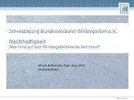 Nachhaltigkeit im Wintergartenbau - Bundesverband Wintergarten eV