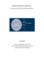Socialforvaltningens selv-stimulering - Akademisk Opgavebank