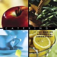 Catering Guide - Marine Biological Laboratory