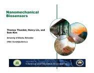 Nanomechanical Biosensors - Acamp
