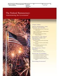The Federal Bureaucracy: - McGraw-Hill Learning Solutions