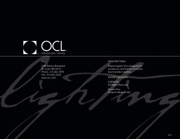 Catalog Introduction - OCL Architectural Lighting