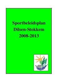 Sportbeleidsplan Dilsen-Stokkem 2008-2013