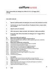 Protokoll Sitzung der Kommission für die ... - Coiffure SUISSE