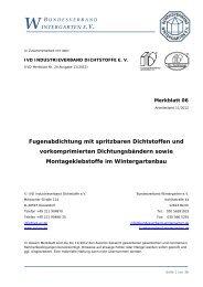 Fugenabdichtung mit spritzbaren Dichtstoffen - Bundesverband ...